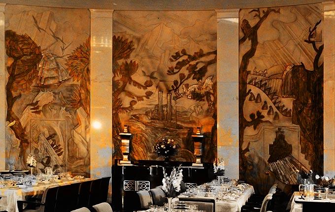 Ss America Dining Room Murals